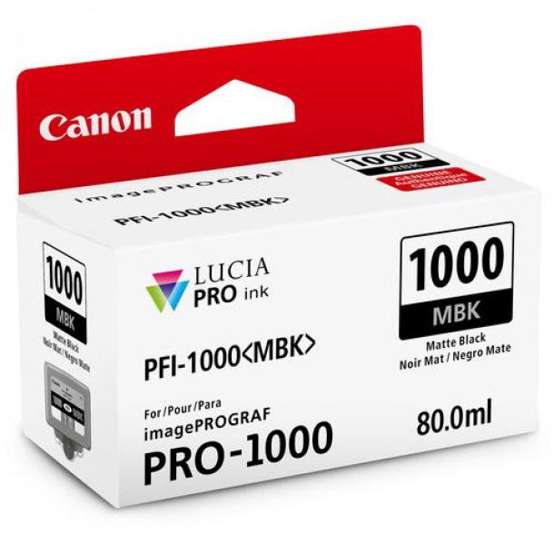 Cartucho Canon LUCIA PRO INK PFI-1000 Matte Black 80ml 0545C003AA