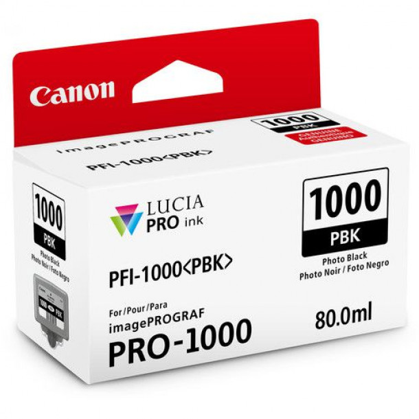 Cartucho Canon LUCIA PRO INK PFI-1000 Photo Black 80ml 0546C003AA