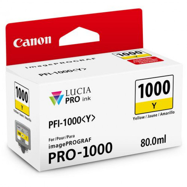 Cartucho Canon LUCIA PRO INK PFI-1000 Amarelo 80ml 0549C003AA