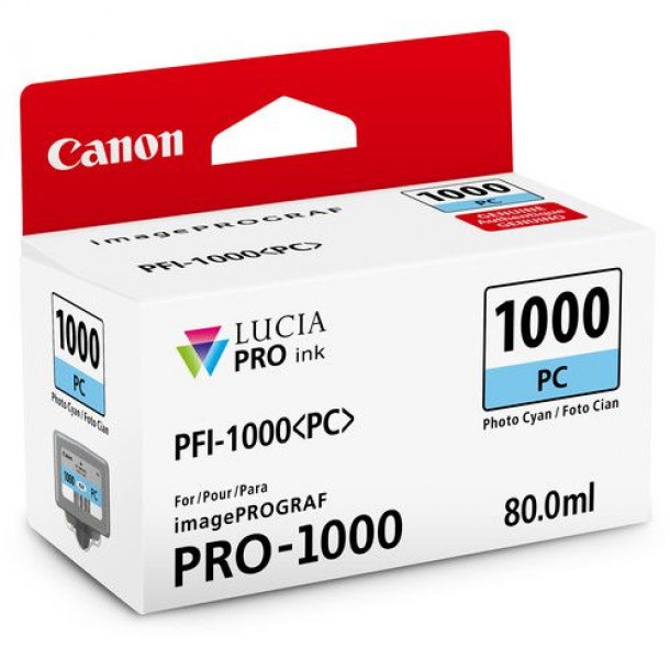Cartucho Canon LUCIA PRO INK PFI-1000 Photo Ciano 80ml 0550C003AA