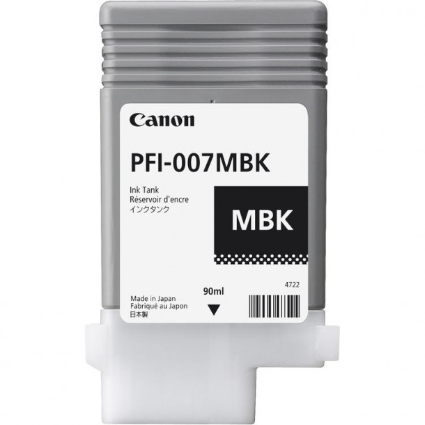 Cartucho Canon LUCIA PRO INK PFI-007 Matte Preto 90ml 2142C001AA
