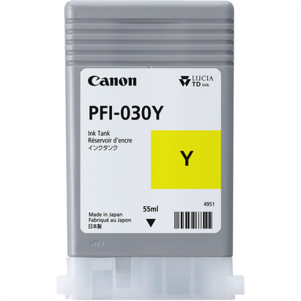 Cartucho Canon LUCIA TD PIGMENT INK PFI-030 Yellow 55ml 3492C001AA