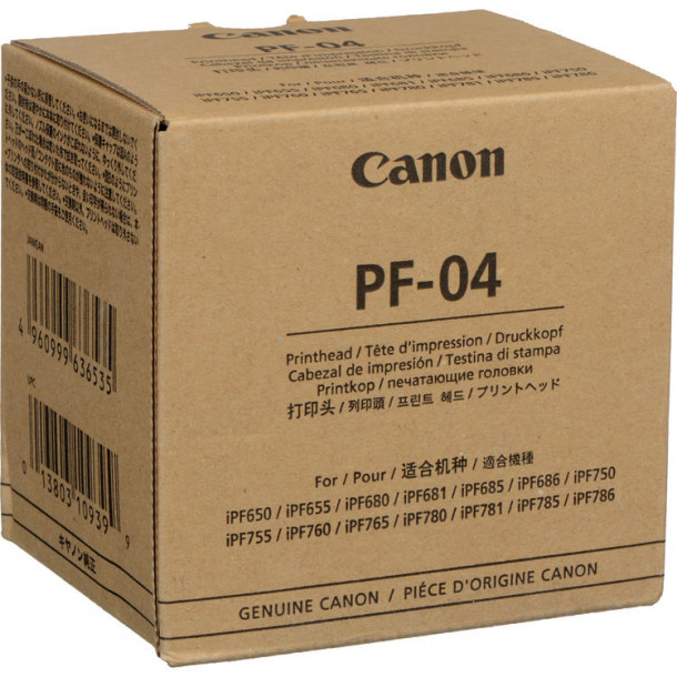 Cabeça de impressão inkjet CANON PF-04