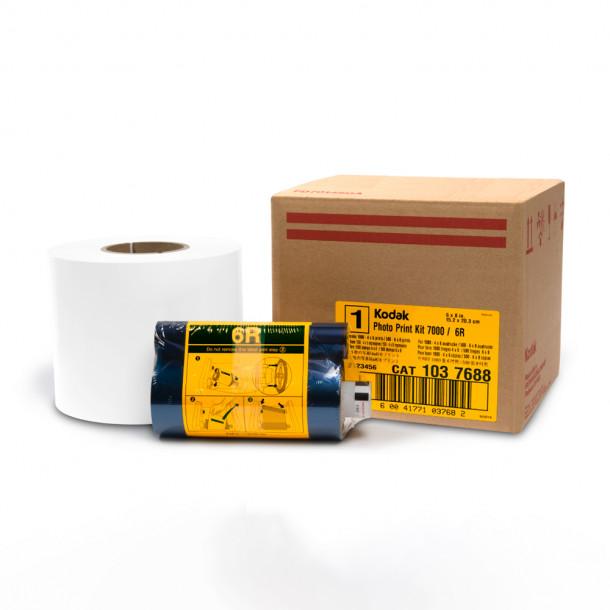 Conjunto Papel/Fita 6R Impressora Kodak APEX 7000 para 1140 fotos 10x15 ou 570 fotos 15x20