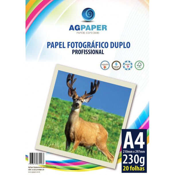 AGPAPER Photo Paper Glossy A4 230GSM c/20 fls frente verso
