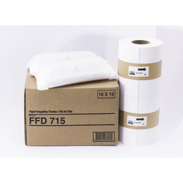 Conjunto Papel/Fita Fujifilm FFD715 - 800 copias 10x15cm