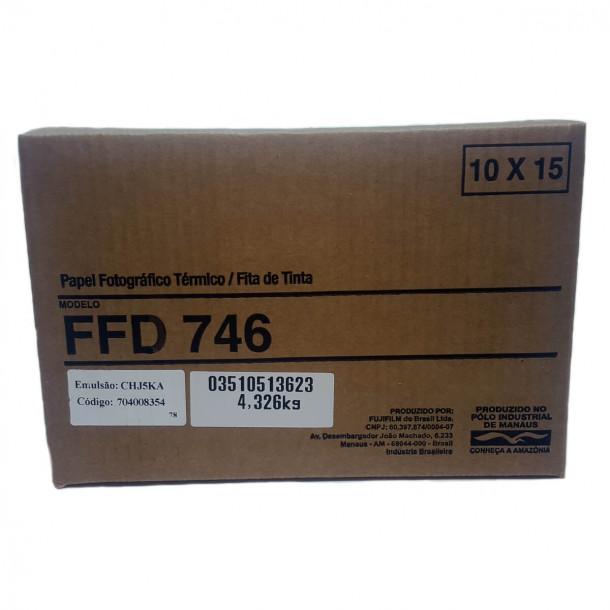 Conjunto Papel/Fita Fujifilm FFD746 - 800 copias 10x15cm