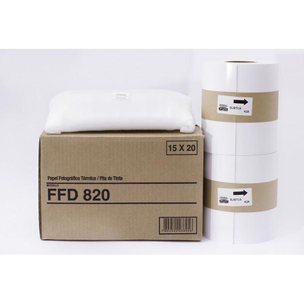 Conjunto Papel/Fita FUJIFILM FFD820 - 430 cp 15x20cm ou 860 cp 10x15
