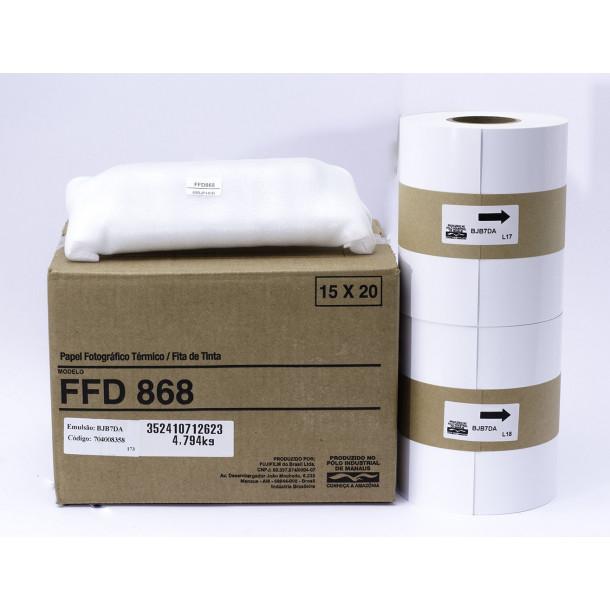 Conjunto Papel/Fita FUJIFILM FFD868 - 430 cp 15x20cm ou 860 cp 10x15
