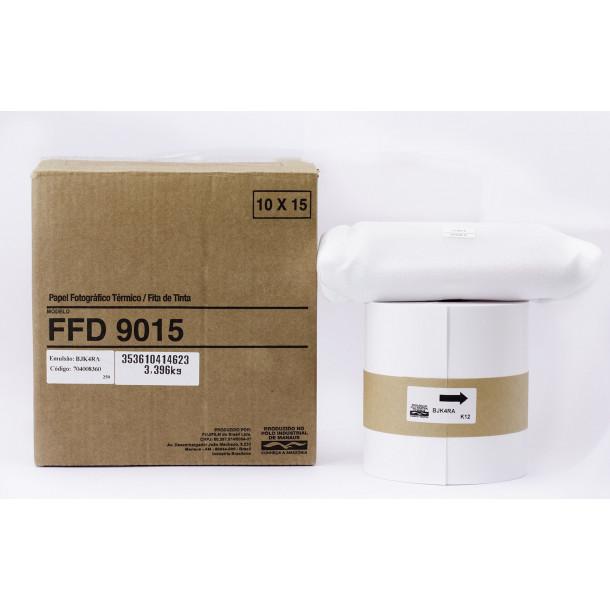 Conjunto Papel/Fita FUJIFILM FFD9015 - 600 copias 10x15cm