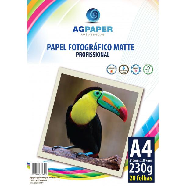 AGPAPER Photo Paper Matte A4 230GSM c/20 folhas