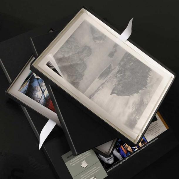 Caixa portfólio com padrão museológico Canson Infinity A4