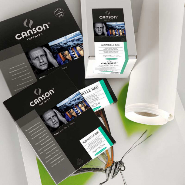 Canson Infinity Aquarelle Rag 310gsm Mate 24'' 61cm x 15 m