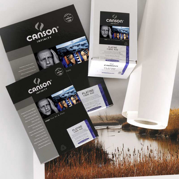 Canson Infinity Platine Fibre Rag 310gsm Cetim 24'' 61cm x 15 m