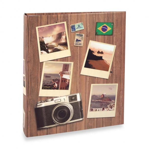 Álbum Viagem ferragem para 100 Fotos 15X21cm Câmera