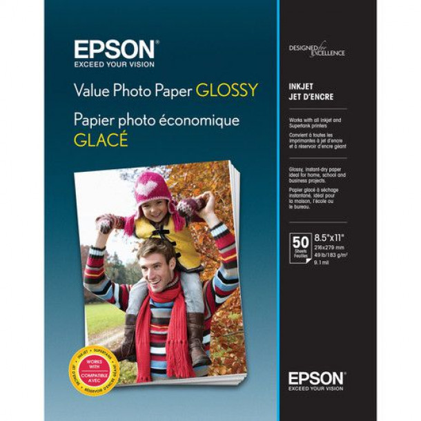 Epson Value Photo Paper Glossy Carta 50 folhas