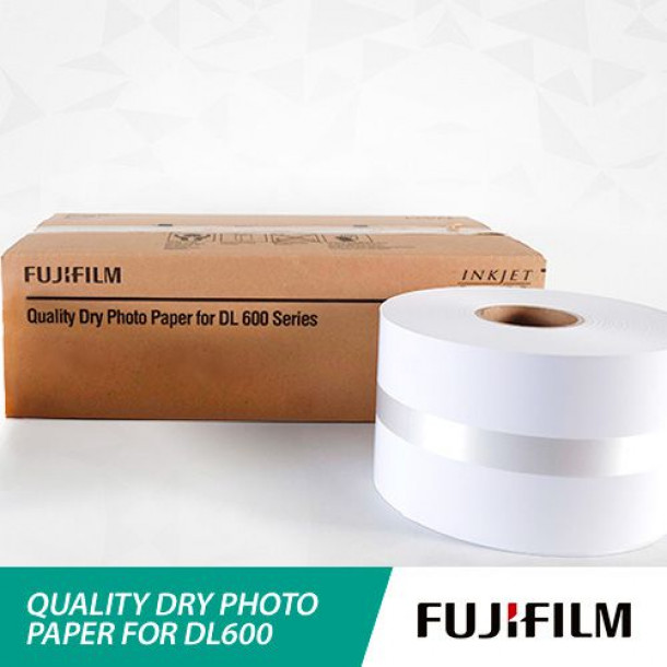 Papel FUJIFILM DL600 Lustre 12,7cm x 180 metros