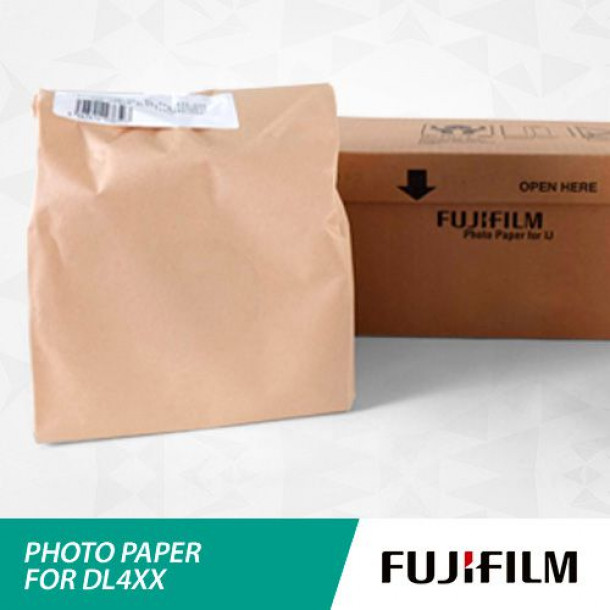 Papel FUJIFILM DL4XX Lustre 12,7cm x 100 metros