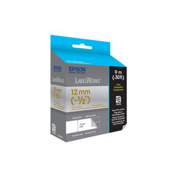 Fita Epson LC-4TKN9 12mm x 9mt Dourado em fundo Transparente
