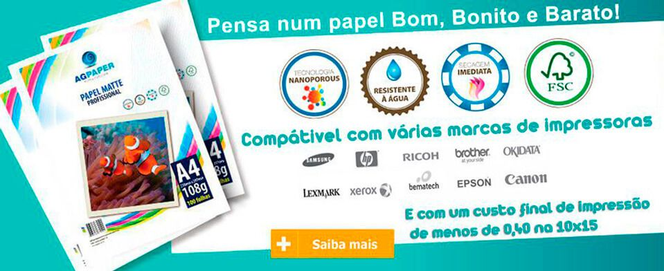 Papeis fotográficos AgPaper