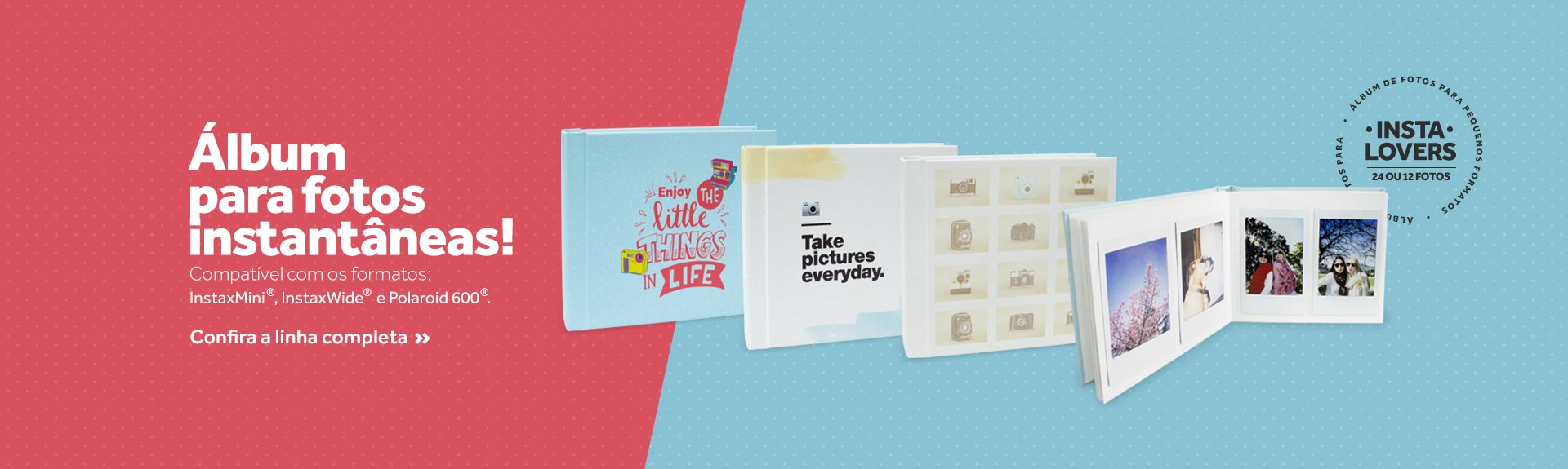 álbuns de fotos compactos e práticos ideais para guardar fotos instantâneas