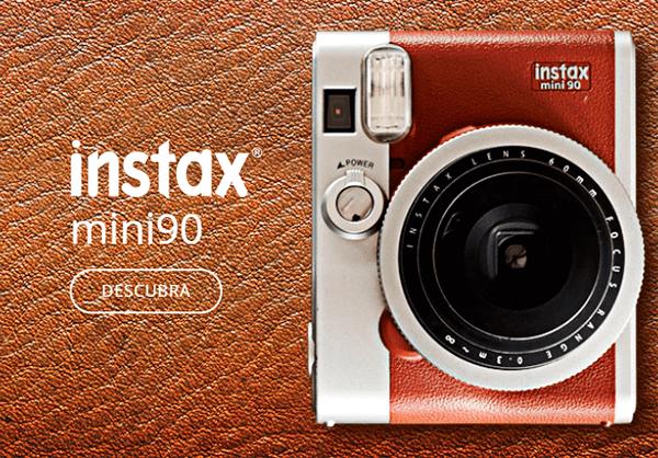 Recursos especiais e acabamento diferenciado você encontra nas câmeras Fujifilm INSTAX MINI 90