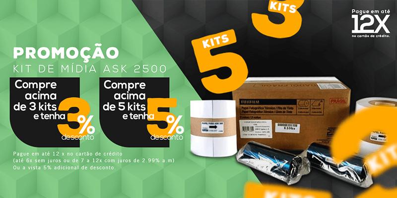 Comprando 3 ou mais Kits da ASK2500 ganhe 3% de desconto e comprando 5 ou mais kits ganhe 5% de desconto