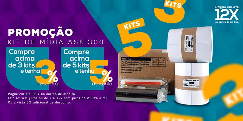 Comprando 3 ou mais Kits da ASK300 ganhe 3% de desconto e comprando 5 ou mais kits ganhe 5% de desconto