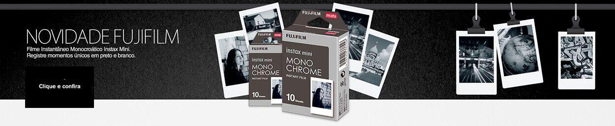 Filme instantâneo monocromático INSTAX Mini monochrome. Registre momentos únicos em preto e branco